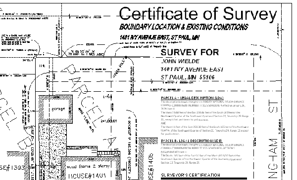 residential property - certificate of land survey map